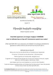 apprendre l armenien avec afterapril24th2015 lecon3