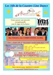 flyer 16 heures de la line dance mai 2014
