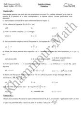 sujet de revision nombres complexes bac sc exp