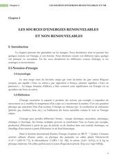chapitre i generalites energies renouvelables 2014