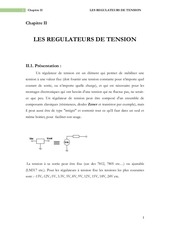 chapitre ii les regulateurs de tension