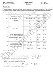 sujet de revision complexe bac math