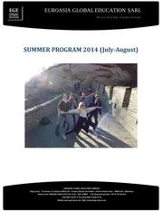 summer program 2014