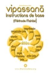 vipassana instructions de base selon la methode mah s