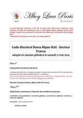 code electoral bmp adopte