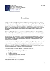 Fichier PDF presentation presse