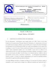 Fichier PDF seminaire de formation