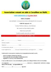 Fichier PDF bulletin d inscription vide greniers 2014