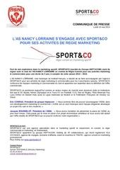 communique de presse asnl s engage avec sport co