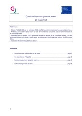 questions reponses garantie jeunes 28 mars 2014