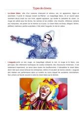 types de clowns