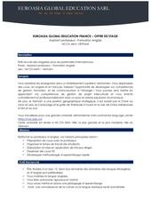 euroasia global education offre de stage n 007