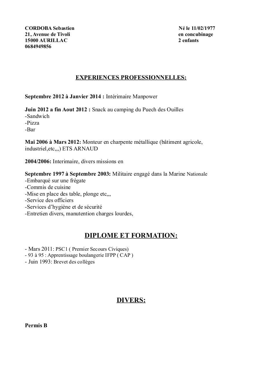 cv seb - restauration pdf par seb