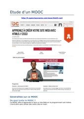 etude de cas mooc html5