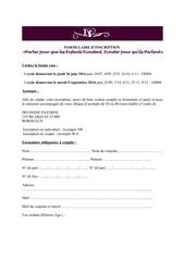 Fichier PDF formulaire inscription ateliers