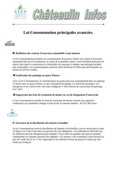 loi consommation principales avancees