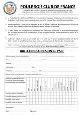 bulletin adhesion pscf