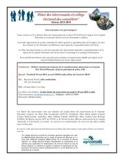 dener des intervenants 30 mai 2014