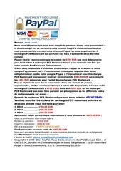 information du service paypal