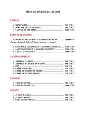 menu du jour du 24 05 2014