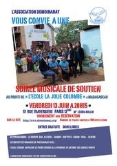 affichette soiree musicale 13 juin 2014