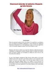 Fichier PDF comment aborder et seduire les femmes