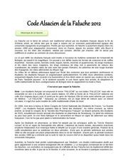 code alsacien de la faluche 2012