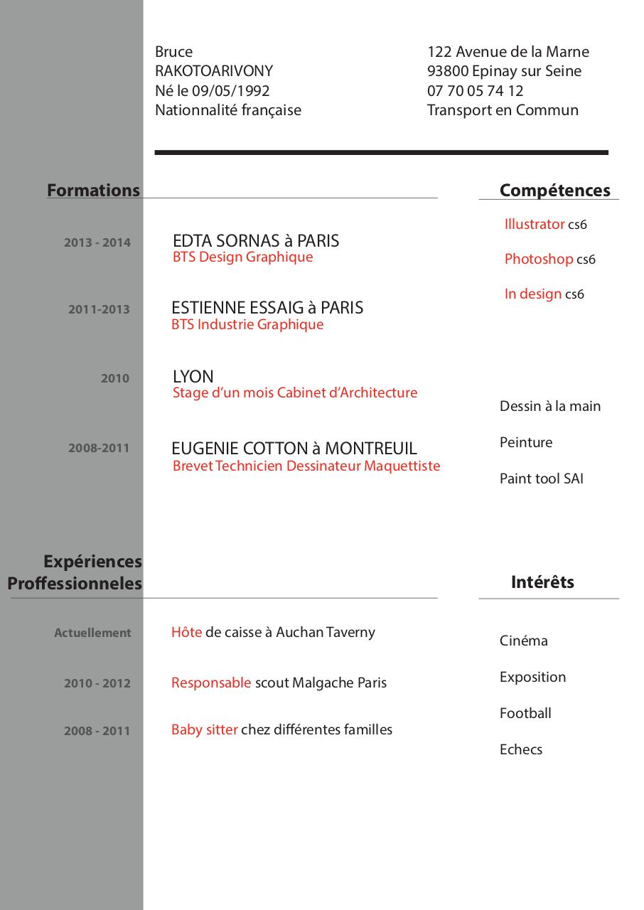 Cv bruce 2014 cv bruce fichier pdf for Architecture graphique