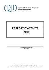 rapport d activite crid 2011