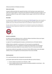 vehicules prioritaires et limitations de vitesses