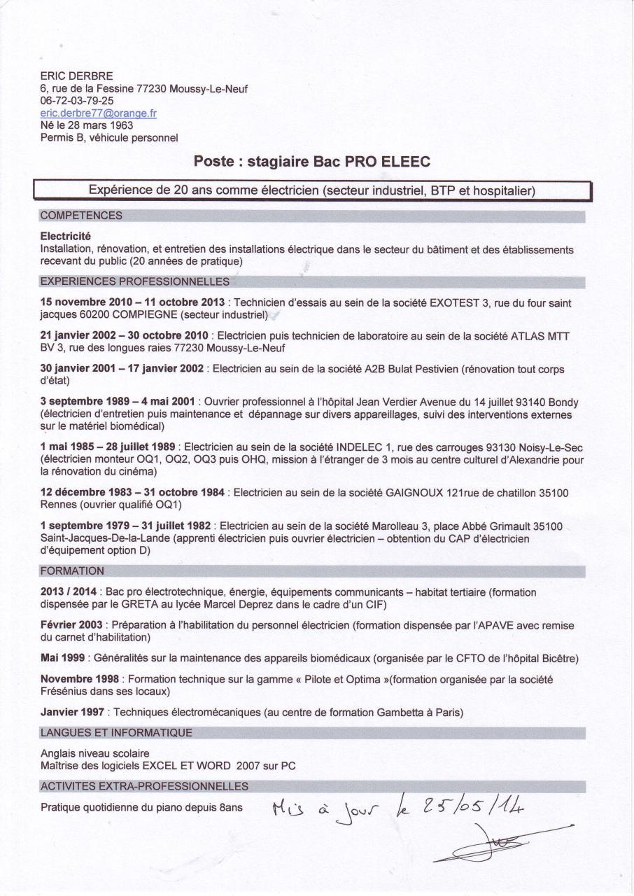 cv sign u00e9  cv sign u00e9 pdf
