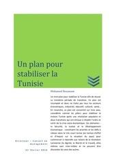 plan pour stabiliser la tunisie
