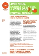 tract conditions de travail