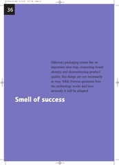olfactory packaging smell of success