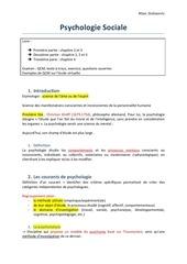 cours psychologie sociale pdf