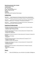 Fichier PDF cv 2014