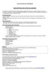 Fichier PDF description gites verdier
