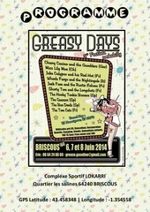 programme greasy days 2014
