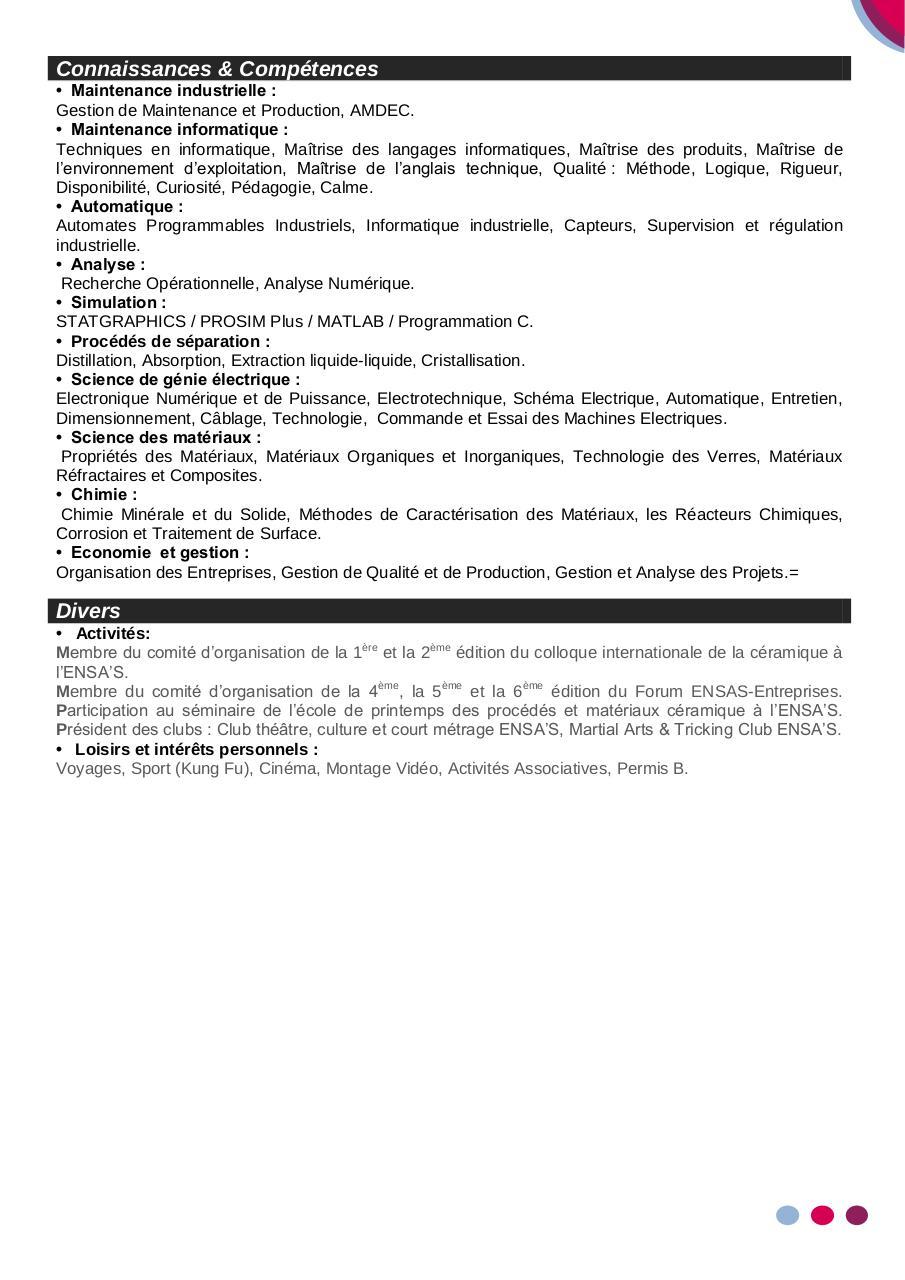 cv a forsi  pdf par axel maille