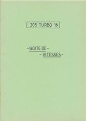 notice 205 t16 boite de vitesses bombinettes 80 com