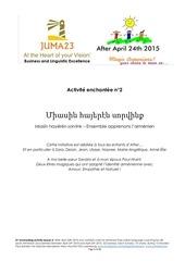 apprendre l armenien avec afterapril24th2015 lecon 5
