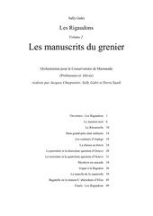 les manuscrits du grenier conducteur