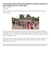 Fichier PDF tourcoing l ecole primaire brossolette la semaine nationale du sport se termine sur un flash mob tourcoing et autour de tourcoing nordeclair