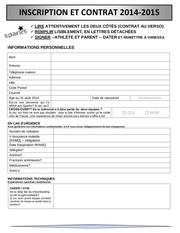 formulaire d inscription sparks 2014 2015