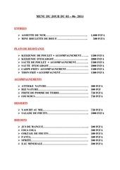 menu du jour du 03 06 2014