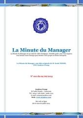 la minute du manager 02 juin 2014