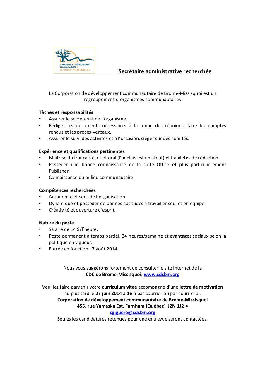 offre d emploi de secretaire au luxembourg