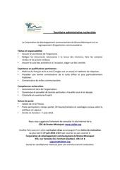 offre d emploi secretaire administrative