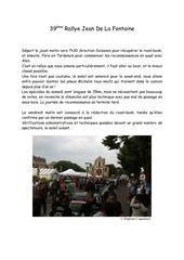 39eme rallye jean de la fontaine
