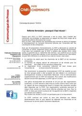 Fichier PDF communique presse reforme du ferroviaire pourquoi il faut reussir